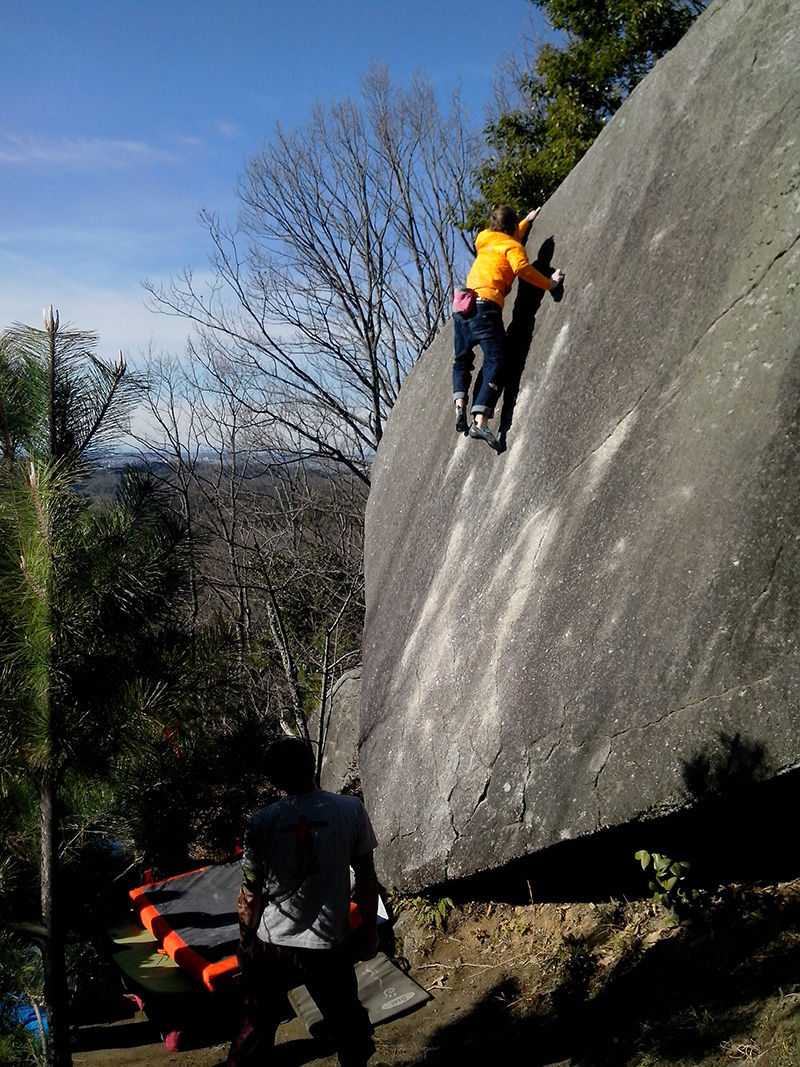 V8 slab... awsome climb on solid granite